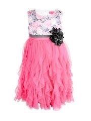 Toy Balloon kids Girls Pink Self-Design A-Line Dress