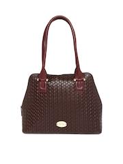 Hidesign Brown Patterned Leather Shoulder Bag