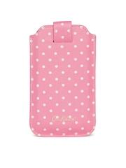 Cath Kidston Women Pink Polka Dot Print Mobile Pouch