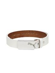 PUMA Men White Genuine Leather High Flyer Golf Belt