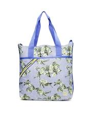 PUMA Blue & Green Floral Print Archive Shopper Ripstop Tote Bag