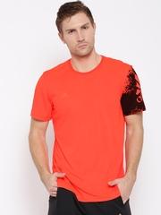 Adidas Men Neon Orange X Poly Printed Detail Round Neck T-shirt
