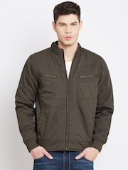 John Players Coffee Brown Bomber Jacket