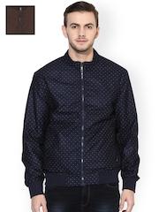 Turtle Men Navy & Brown Reversible Jacket
