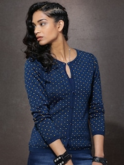 Roadster Navy Patterned Sweater