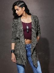 Roadster Black & Beige Patterned Sweater