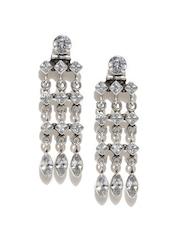 Fabindia Anusuya Silver Embellished Handcrafted Drop Earrings