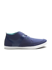 United Colors of Benetton Men Navy Solid Sneakers