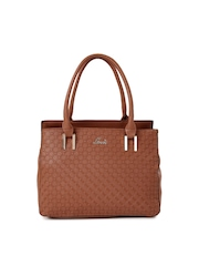 Lavie Brown Textured Shoulder Bag