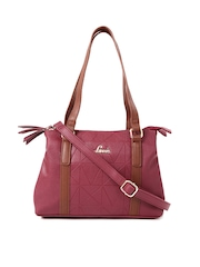 Lavie Maroon Textured Shoulder Bag