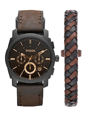 Fossil Men Brown Chronograph Watch FS5251SET
