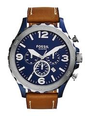 Fossil Men Navy Chronograph Watch JR1504I