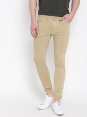 H.E. By Mango Men Beige Slim Fit Mid-Rise Clean Look Jeans