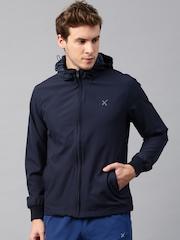 HRX by Hrithik Roshan Navy Active Hooded Jacket