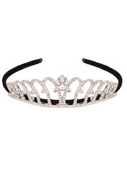 CUTECUMBER Girls Black Embellished Tiara Hairband