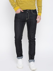 United Colors of Benetton Men Navy Super-Skinny Fit Mid-Rise Clean Look Jeans