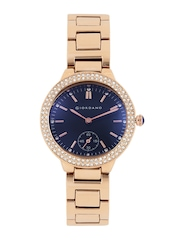 GIORDANO Women Navy Embellished Analogue Watch 2808-11