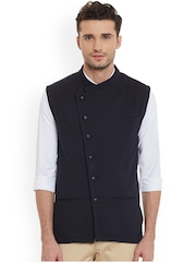 Hypernation Navy Nehru Jacket