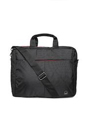 United Colors of Benetton Men Black Laptop Bag