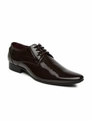 Bata Men Brown Derby Shoes
