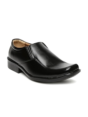Bata Men Black Square-Toed Semiformal Slip-Ons