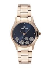 Daniel Klein Premium Women Navy Embellished Dial Watch DK11140-6