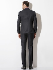 V Dot Charcoal Grey Single-Breasted Formal Suit
