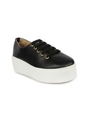 Shoetopia Women Black Solid Flatforms