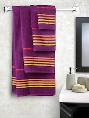 Trident Set of 10 Purple Cotton 450 GSM Towels
