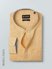 INVICTUS Men Orange Slim Fit Linen Solid Formal Shirt