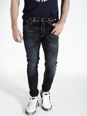 Ecko Unltd Men Navy Blue Super Slim Fit Jeans