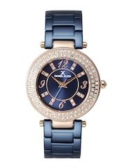Daniel Klein Premium Women Navy Stone-Studded Dial Watch DK11186-3