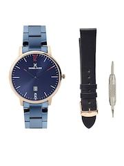 Daniel Klein Slim Unisex Blue Dial Watch with Interchangeable Strap DK11270-3