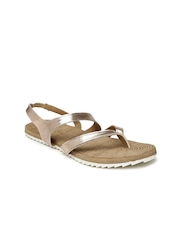 Inc 5 Women Taupe Solid Flats