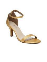 Inc 5 Women Gold-Toned Heels