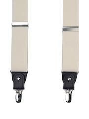 Alvaro Castagnino Men Cream-Coloured Suspenders