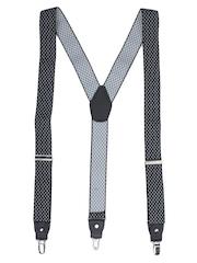 Alvaro Castagnino Black & Grey Checked Suspenders