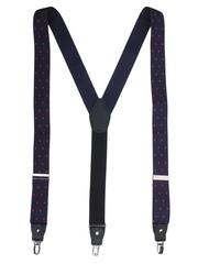 Alvaro Castagnino Navy & Red Patterned Suspenders