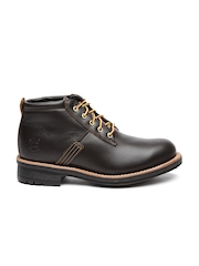 Timberland Men Coffee Brown Leather Willoughby Flat Boots