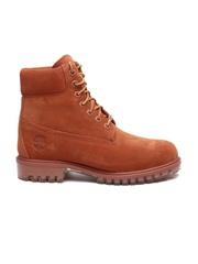 Timberland Men Rust Brown High-Top Suede Flat Boots