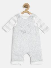 mothercare Infants White & Grey Melange Clothing Set