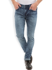 LOCOMOTIVE Men Blue Slim Fit Mid-Rise Jeans