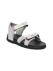 Puma Women Grey Techno Sports Sandals