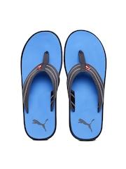 PUMA Men Grey & Blue Flip-Flops