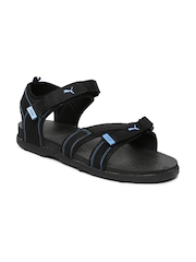 PUMA Unisex Black & Blue Techno IDP Sports Sandals