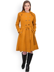 Athena Mustard Yellow Longline Coat