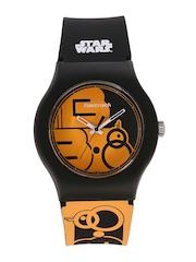 Fastrack Unisex Orange & Black Printed Dial Watch 9915PP48J