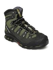 Salomon Men Olive Green Quest 4D 2GTX Hiking Shoes