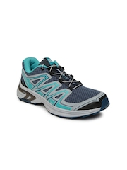 Salomon Women Blue and Green Wings Flyte 2 Running Shoes