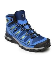 Salomon Men Blue X Ultra Mid 2 GTX Blue Depth Trekking Shoes